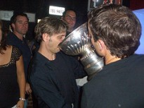 Drinking out of the Stanley Cup. Thanks Jason (2006)