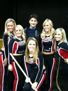 Ed with the Carolina Hurricanes Storm Squad