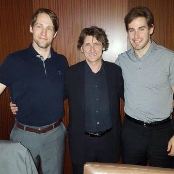 NHLers Travis Zajac and John Moore